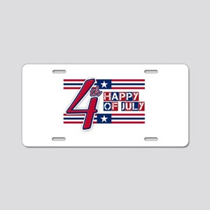 Happy 4th Of July Aluminum License Plate