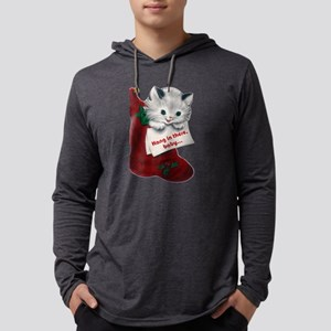 Hang In There Baby Mens Hooded Shirt