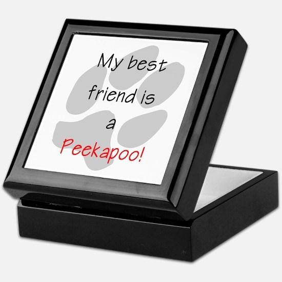 My best friend is a Peekapoo Keepsake Box