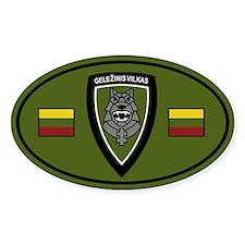 Gelezinis Vilkas Sticker (Oval)