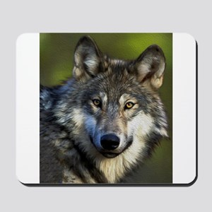 Lone Grey Wolf Mousepad