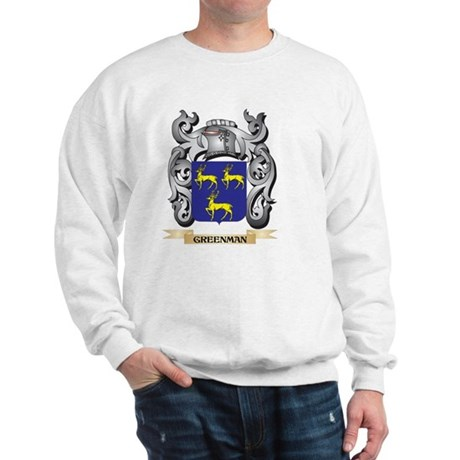 Greenman Coat of Arms - Family Crest Sweatshirt