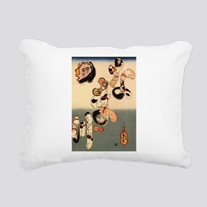 Japanese Cats Rectangular Canvas Pillow
