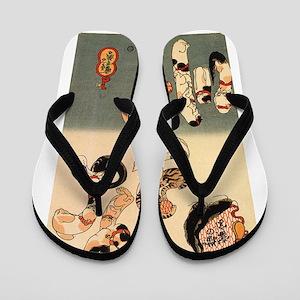 Japanese Cats Flip Flops