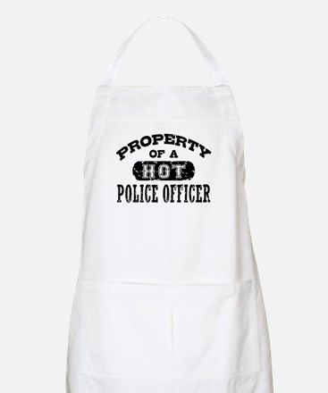 Property of a Hot Police Officer Apron