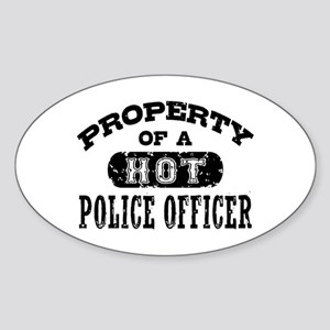 Property of a Hot Police Officer Sticker (Oval)