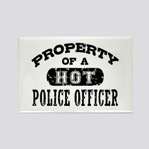 Property of a Hot Police Officer Rectangle Magnet