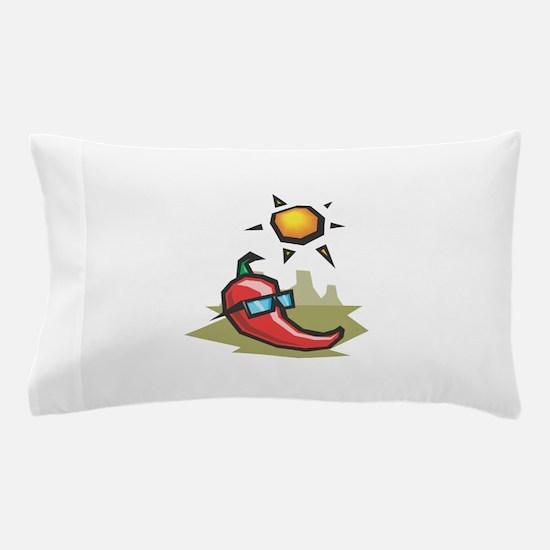 funny chillin hot chili pepper in the sun Pillow C