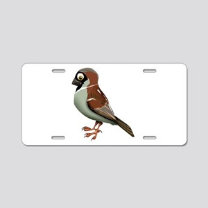 House Sparrow Aluminum License Plate