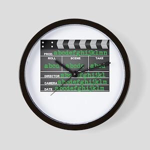 Movie slate Wall Clock
