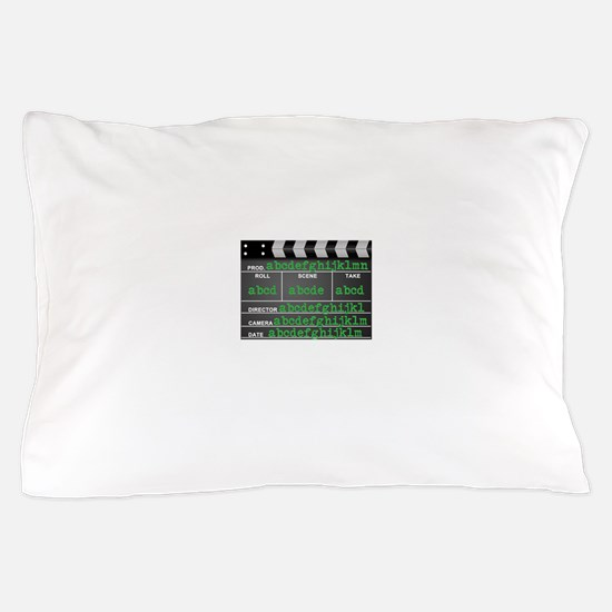 Movie slate Pillow Case