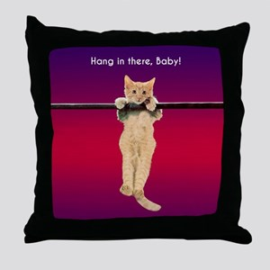 Hang In There Baby Kitten Throw Pillow