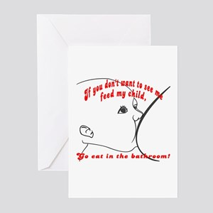 YOU eat in the bathroom! Greeting Cards (Package o