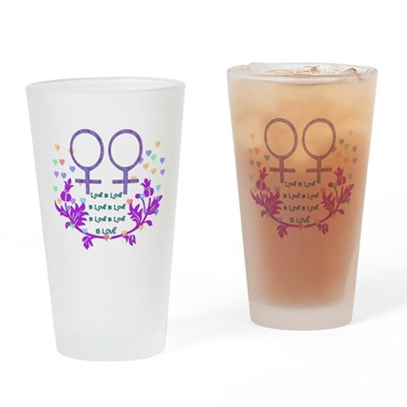 Sane Sex Marriage Female Drinking Glass