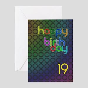 19th Birthday card for a man Greeting Card