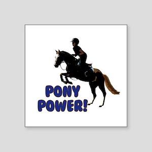 Cute Pony Power Equestrian Sticker