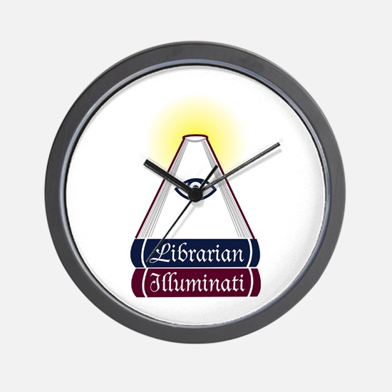 Librarian Illuminati Wall Clock