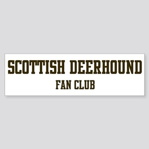 Scottish Deerhound Fan Club Bumper Sticker