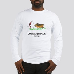 Corgilympics: Archery Long Sleeve T-Shirt