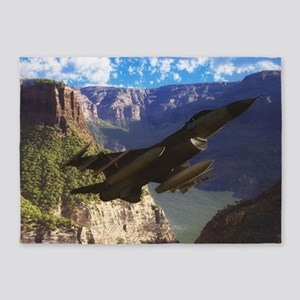 F-16 Fighting Falcon 5'x7'Area Rug