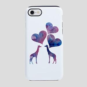Giraffe Art iPhone 7 Tough Case
