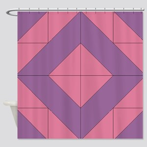 Mosaic Quilt Square Shower Curtain