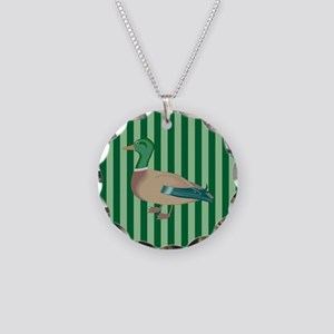 Green Striped Duck Necklace