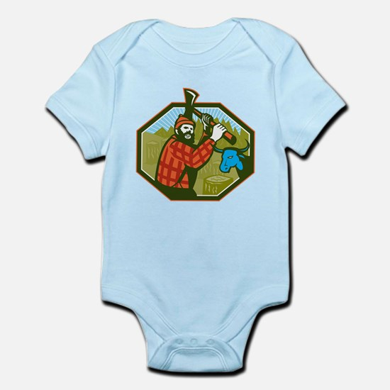 Paul Bunyan LumberJack Axe Blue Ox Body Suit