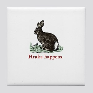 Rabbit Gardener Tile Coaster