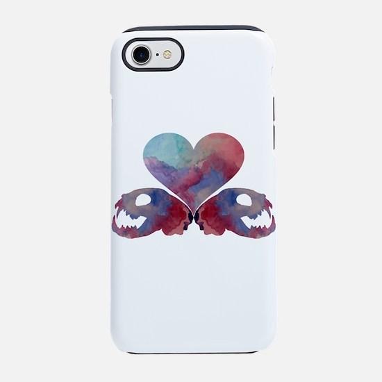 Heart and cat skulls iPhone 7 Tough Case