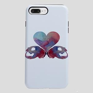 Heart and cat skulls iPhone 7 Plus Tough Case