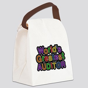 Worlds Greatest AUDITOR Canvas Lunch Bag