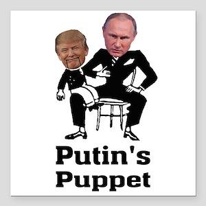 """Trump Putin's Puppet Square Car Magnet 3"""""""