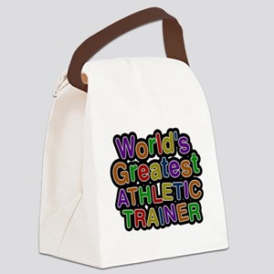 Worlds Greatest ATHLETIC TRAINER Canvas Lunch Bag