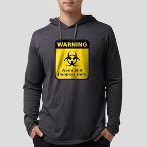 Weird Warning Sign Mens Hooded Shirt