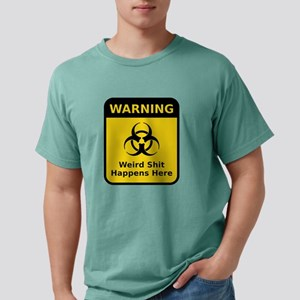 Weird Warning Sign Mens Comfort Colors Shirt