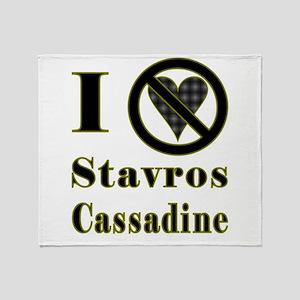I Hate Stavros Cassadine Throw Blanket