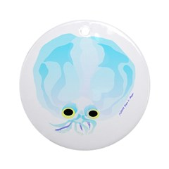 Deep Sea Glass Octopus t Ornament (Round)