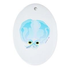 Deep Sea Glass Octopus t Ornament (Oval)
