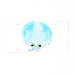 Deep Sea Glass Octopus t Aluminum License Plate
