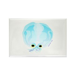 Deep Sea Glass Octopus t Rectangle Magnet