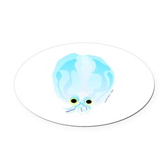 Deep Sea Glass Octopus t Oval Car Magnet