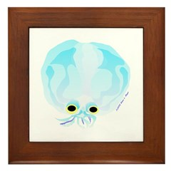 Deep Sea Glass Octopus t Framed Tile