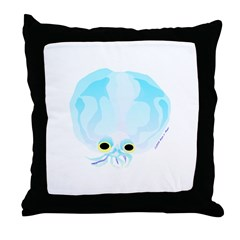 Deep Sea Glass Octopus t Throw Pillow