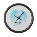 Deep Sea Glass Octopus t Large Wall Clock