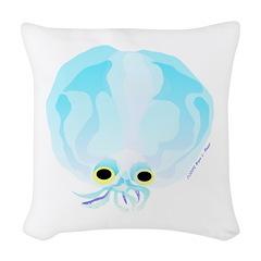 Deep Sea Glass Octopus t Woven Throw Pillow