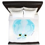 Deep Sea Glass Octopus t King Duvet