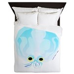 Deep Sea Glass Octopus t Queen Duvet