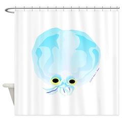 Deep Sea Glass Octopus t Shower Curtain