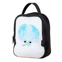 Deep Sea Glass Octopus t Neoprene Lunch Bag